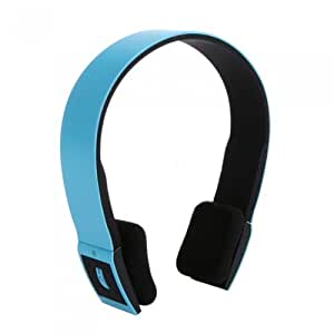 2.4G Wireless Bluetooth V3.0 + EDR Headset Headphone with Mic for iPhone iPad Smartphone Tablet PC Color Blue