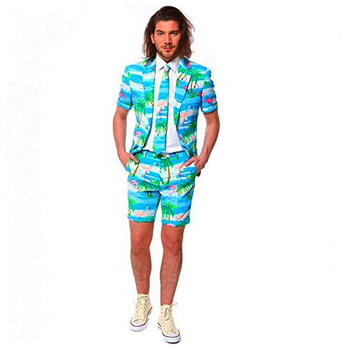 Opposuit Anzug Flaminguy Fasching Kostüm Summer Suit Flamingo Beachparty (60)
