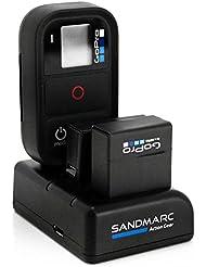 SANDMARC® Procharge : Triple Chargeur pour GoPro Hero 4 , 3+ et à GoPro Smart (Wifi) Remote