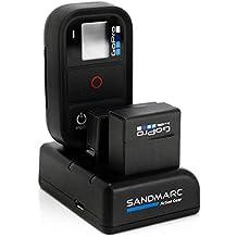 SANDMARC Procharge: Triple Cargador para GoPro Hero 4 , 3 + y remoto con - 1 x Batería incluida para GoPro Hero 4