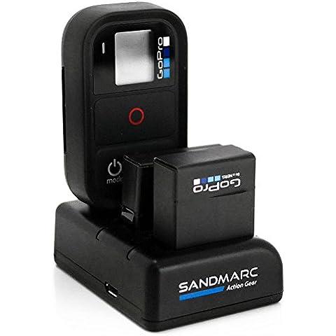 SANDMARC® Procharge : Triple Cargador para GoPro Hero 4 , 3 + y remoto con - 1 x Batería incluida para GoPro Hero 4 ( Hero 4 / 3 + / Remoto ) (Hero 4 / 3+ /