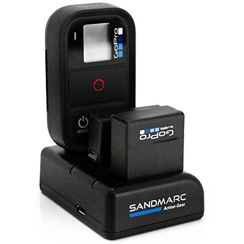 SANDMARC® Procharge: Dreifach Ladegerät für GoPro Hero 4, 3+ und Remote with 1 x included Batterie für GoPro Hero 4 (Hero 4 / 3+ / Remote) (Hero 4 / 3+ / Remote) (Fernbedienung Für Go Pro Hero 3)