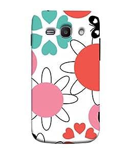 PrintVisa Designer Back Case Cover for Samsung Galaxy Ace 3 :: Samsung Galaxy Ace 3 S7272 Duos :: Samsung Galaxy Ace 3 3G S7270 :: Samsung Galaxy Ace 3 Lte S7275 (Printed design Hearts butterfly flowers)