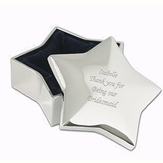 Personalised Star Trinket Box - Free Laser Engraving