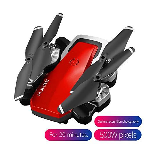 AmaSells Professionelle Intelligent HJ28 5.0MP 1080P Kamera Wifi FPV Faltbarer 6-Achsen-Gyro RC Quadcopter Drohne, 1800mah ultra Batteriedauer (Rot) (Pilot Rot Lampe)