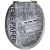Allibert 813954 Abattant avec charnière métal Graphic line newspaper