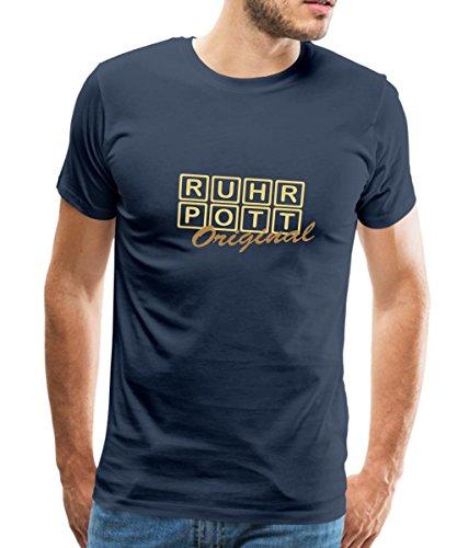 Spreadshirt Ruhrpott - Original Männer Premium T-Shirt, XL, Navy
