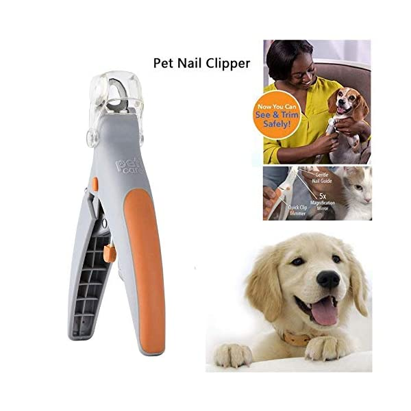 2018 Magic Nails Pets Cutter Pet Nail Clipper, Dog Nail Trimmer and Toenail Clippers, Pet Nail Scissor Great for Cats & Dogs, Features LED Light 1