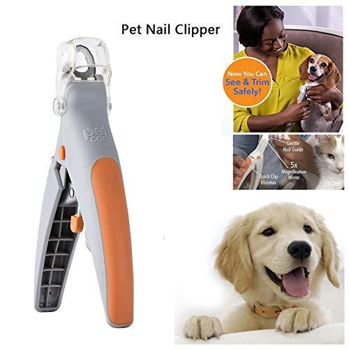 2018 Magic clavos cortador de mascotas cortador de uñas cortador de uñas, cortador de uñas para perro y cortaúñas, tijeras de uñas para mascotas, ideal para gatos y perros, cuenta con luz LED