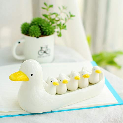GBYJ DekorationKeramikgeschirr, Lebensmittel, Keramik, süße Ente, Essstäbchen, Ornamente, Deko-Set