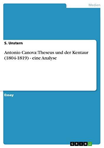 Antonio Canova: Theseus und der Kentaur (1804-1819) - eine Analyse