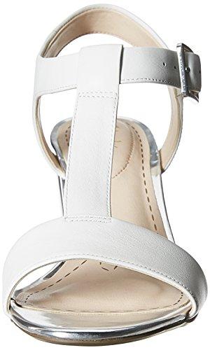 Clarks Smart Deva 20352895, Damen Pumps Silber (White/Silver Lea)