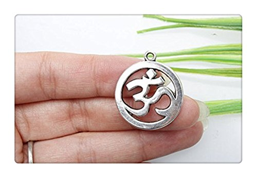 3pcs Own Ciondolo, antico argento tibetano Yoga simboli ciondoli om, ciondoli 19x 23mm