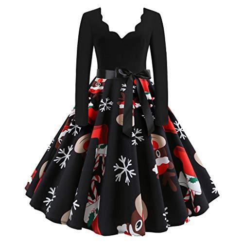 Vestido Vintage de Navidad Mujer Vestidos 1950s Pin Up Elegante...