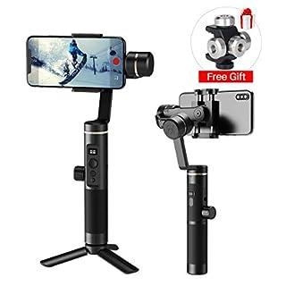 FeiyuTech SPG 2 3-Achsen-Gimbal mit Audio-Erweiterungsschnittstelle für Smartphones & Sportkameras, besseres Tik Tok/Live Show/Vlog, kompatibel mit iPhone, Samsung Smartphone