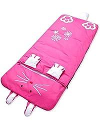 HuntGold style animal enfants oreiller sac de couchage de 140cm*60cm 140cm*60cm(lapin pêche)