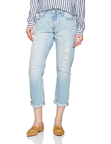 Levi's 501 ct jeans for women, donna, blu (turbulent indigo), w28/l32 (taglia produttore: 28/32)