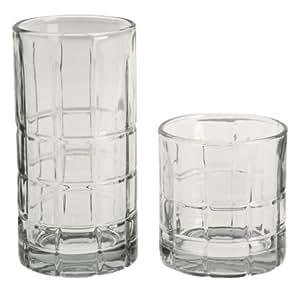 Anchor Hocking Manchester 16-Piece Crystal Beverage Set