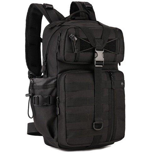 Mefly Tattiche Zaino Borsa Attrezzatura Multifunzione Militari Esercito Sacchetto 30L Viaggio Borsa Scuola Pack Black Black
