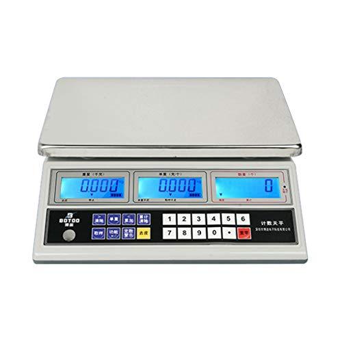 WCX Bilancia Elettronica Digitale Pesalettere Schermo LCD Retroilluminazione, Contapezzi Professionale per Laboratorio, Industria, oro (colore : Bianca, dimensioni : 10kg/0.1g)