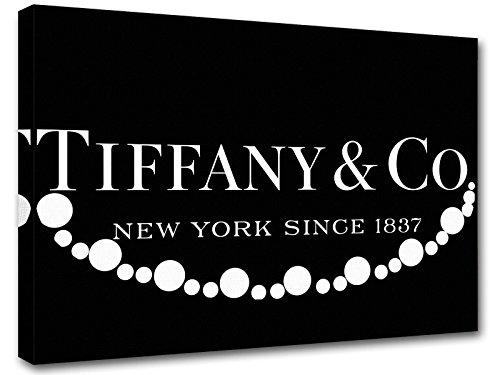 Kuader Gemälde Inspiriert Von Tiffany Co Perlenkette Tiffany Bild Druck Auf Leinwand Für Den Innenausbau Tfo13, 50x70 cm