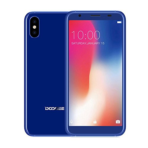 DOOGEE X55 Smartphone 5.5 Zoll Pantalla Completa Android 7.1 3G Práctica con 1 GB de RAM 16 GB de ROM de cámara Trasera: 8 Millones de píxeles +800 megapíxeles