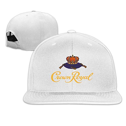 Nigmfgvnr Adjustable Flat Bill Hat Crown Royal Snapback Hat Cotton Baseball Cap