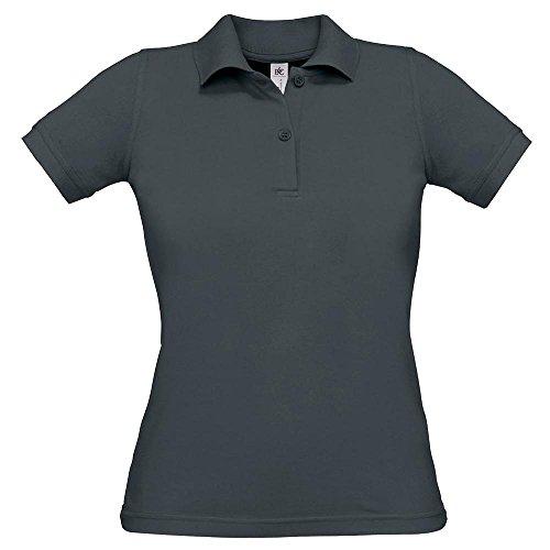 B&C - Ladies Poloshirt 'Safran' / Dark Grey, XS