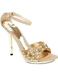 Zapatos de Noche para Mujer con tacón Alto Adornado para Fiesta ... 455938c425a5