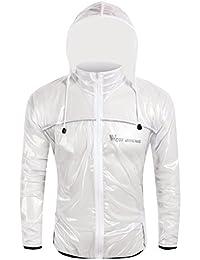 oeste ciclismo ciclismo chubasquero ligero de ropa de deporte exterior impermeables y cortavientos transpirable, Niños Unisex niña hombre mujer, blanco