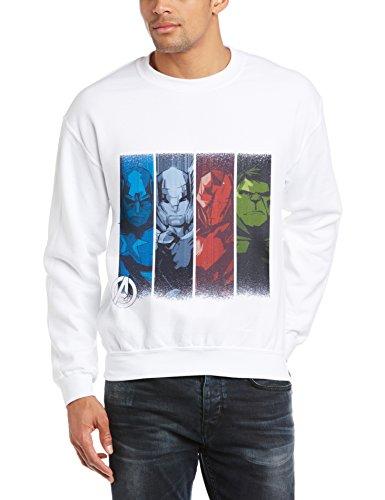 Marvel Herren Sweatshirt Gr. XXL, Weiß - Weiß Preisvergleich