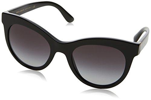 Dolce & Gabbana Damen 0DG4311 501/8G 51 Sonnenbrille, Schwarz (Black/Gradient)