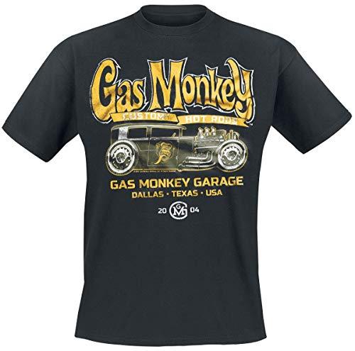 Hot Rod Garage (Gas Monkey Garage Green Hot Rod T-Shirt schwarz XL)