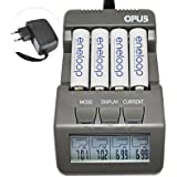 Zorbes Opus BT-C700 4 Slots Intelligent AA AAA Battery Charger With LCD - EU Plug
