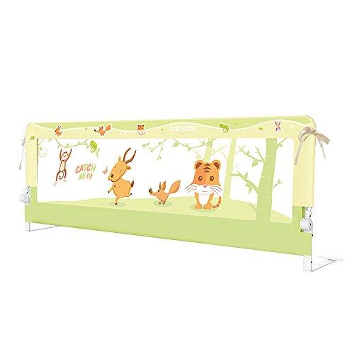 HUO Bettgitter Bed Guardrail Baby Bruchsichere Seitenverkleidung, 1,5 Meter Secure Bed Fence (Farbe : Gelb, größe : 1.5m)