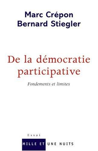 De la démocratie participative : Fondements et limites