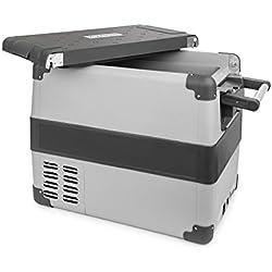 KLARSTEIN Survivor 50 - Glacière congélateur Portable, 50L, -22 à 10°C, 2 Compartiments de réfrigération, eclairage intérieur, Port USB intégré, Classe A++