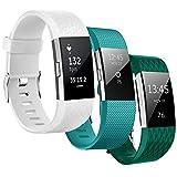Kutop for Fitbit Charge 2 Bracelet, TPU Silicone Souple Sport Bandes de Remplacement Réglables Fitness Bracelets Bands Accessoires pour Fitbit Charge 2 Fitness Wristband