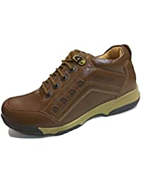 Shoepark Mens Brown Leather Casual Shoe-6 UK