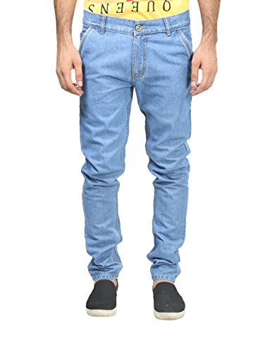 Trendy Trotters Mens Denim Jeans (Ttj1Crsnl-L30. _Light Blue _30)