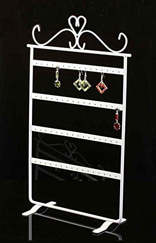 OVER weiß - Ohrringständer Kettenständer Tischständer Ständer Schmuck Ohrringe Ketten Halsketten Schmuckdisplay Halskettenständer Armbandständer Ohrringhalter Kettenhalter Schmuckhalter Halter (Günstige Mann-ohrringe)