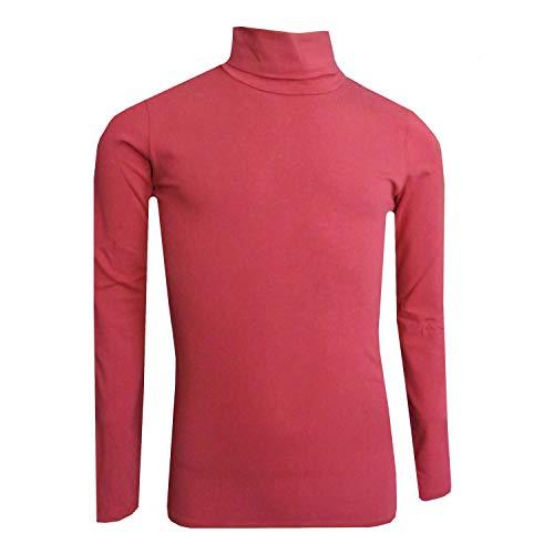 Eisend - Mädchen Rolli Langarmshirt mit Rollkragen, rot - 783120-54m, Größe 152 -