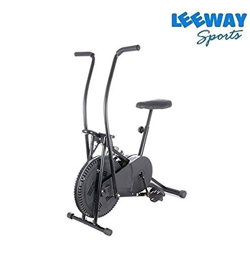 Leeway Air Bike Exercise Cycle| Moving Handle Gym bike For Home Use| Deluxe Design of Fitness| Lifeline for Cardio Work Out| Weight Loss Cross fit Equipment| Stamina BGA 2001 Exercise Bike| Dual Action Cycle