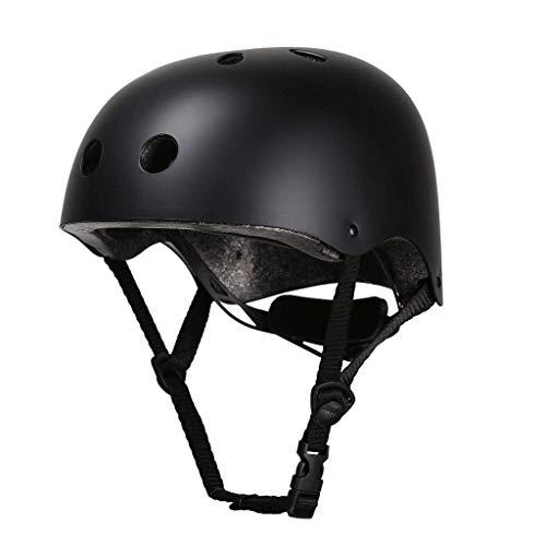RMXMY Outdoor Klettern Bergsteigen Helm Rollschuh Kinder Mützen Lichtgeschwindigkeit Drop Rescue Sport Hut Upstream Treiben Ausrüstung tragen (Color : Black, Size : M) -