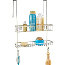 mDesign Estantería de ducha para colgar – Fácil instalación sin agujeros de  este colgador para ducha f283c291640d