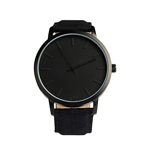 gaxs-watches-jamming-joe-canvas-hombre-reloj-de-pulsera-all-black-con-canvas-plastico-pulsera