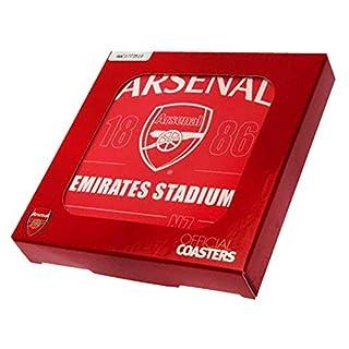 Arsenal Untersetzer Set (4 Stück) (10 x 10cm) (Rot)
