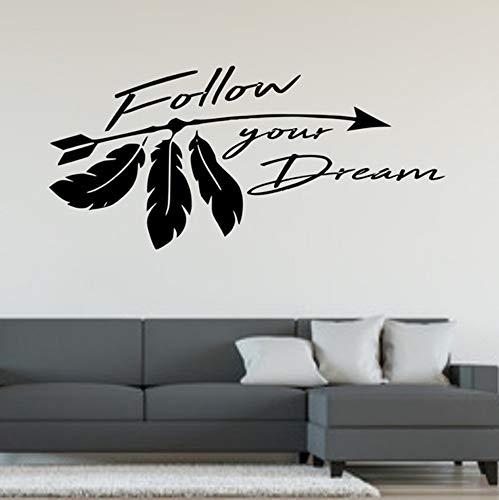 Cmhai Attraktive Folgen Sie Ihre Träume Zitat Word & Phrase Wand Kunst Aufkleber Home Decor Größe 40 * 86Cm