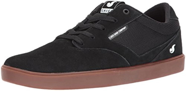 DVS Men's Pressure SC+ Skate Shoe  Black Gum Suede Chico  13 Medium US