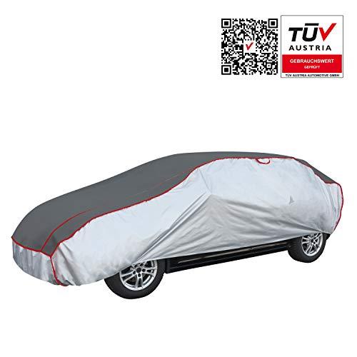 Walser Auto Hagelschutzplane Premium Hybrid PKW wasserdichte atmungsaktive Hagelschutzgarage für optimalen Hagelschutz, Größe: M 30969